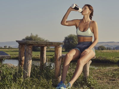 Wasser-trinken.